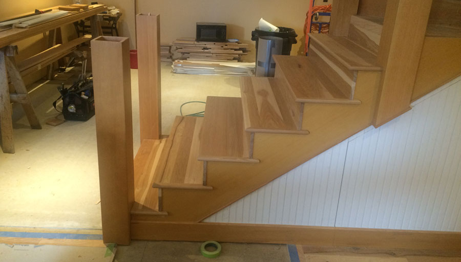 Stair Trim Out 6 Installing The Newel Posts
