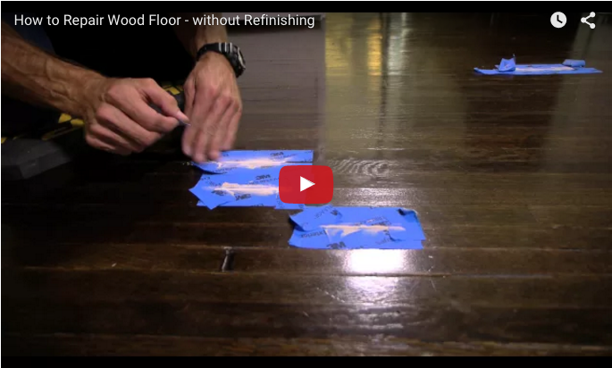 How To Repair A Gouge In A Wood Floor Without Refinishing