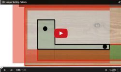 Deck ledger bolting patterns video image