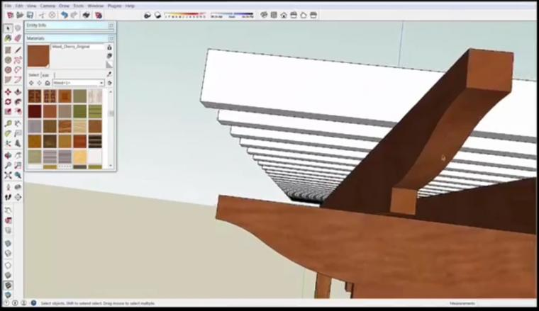 Sketchup For Beginners How To Build A Pergola Protradecraft