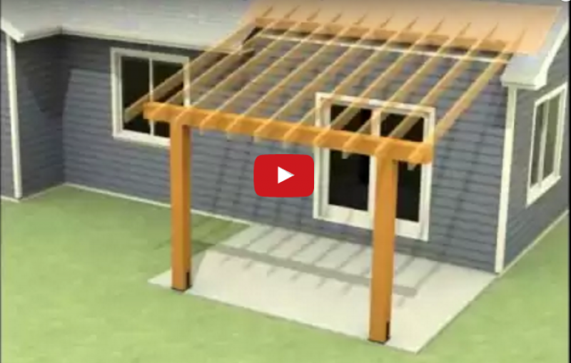 - How To Attach A Patio Roof To An Existing House ProTradeCraft
