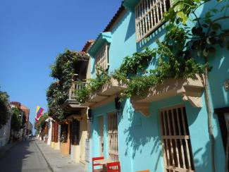 colorful Cartegena houses
