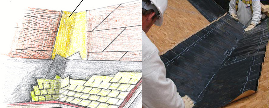 Roof Valleys Begin With Peel And Stick Protradecraft