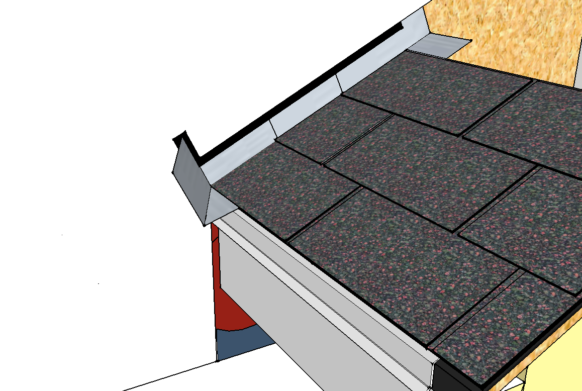 peel and stick membrane on a roof over step and kickout flashing - Roof To Wall Flashing